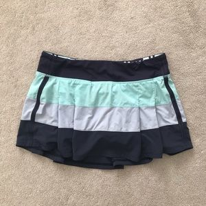 Lululemon Pace Rival Skirt. Aquamarine Cool Breeze